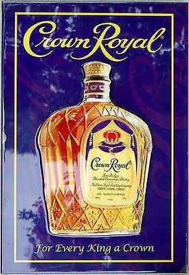 "Crown Royal Whisky Raised Wooden Pub Sign Man Cave Garage Home Bar - 24"" x 16.5"""