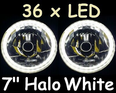 "WHITE 7"" Round LED H4 Semi Sealed Headlights Cadillac Allante Calais Brougham"