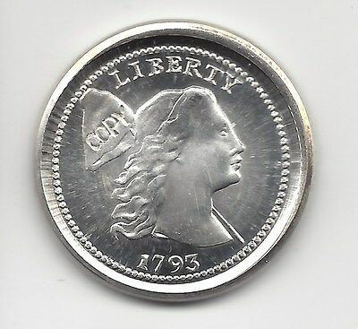 Gallery Mint Museum 1793 Liberty  Cent W/Pole in Silver