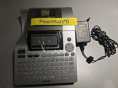 Brother P-Touch PT-2700 Thermal Label Printer with AC Adapter Tested Working
