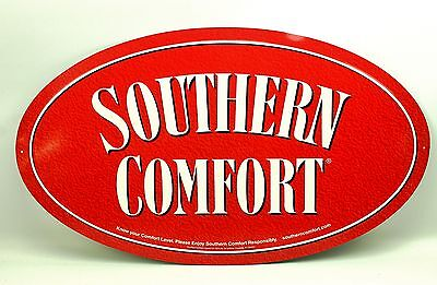 Southern Comfort Red Oval Metal Advertising Sign 2005