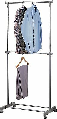 HOME Adjustable Chrome Plated 2 Tier Clothes Rail - Grey -From Argos on ebay