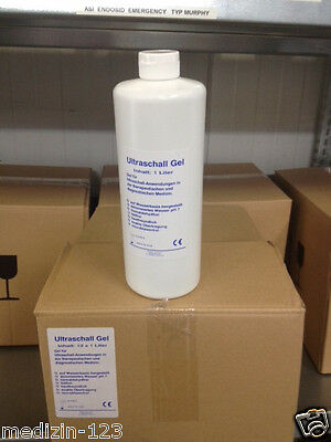 12x Ultraschallgel 1Ltr. 1000ml Ultraschall Gel Kontaktgel Gleitgel