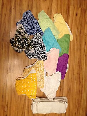 Huge cloth diaper lot of 12+15 inserts..10 diapers are bumGenius