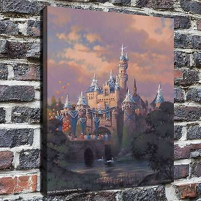 """12""""x16""""The Disney castle Painting HD Print on Canvas Home Decor Wall Art Picture"""