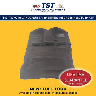 Moulded Car Carpets (T17) Toyota Landcruiser 80 Series 1980-1998 Hj80 Fj80 F&r
