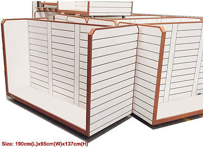 URGENT SELL White H Style Display Shelving Slatwall for Shop Fitting
