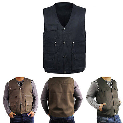 Breathable Unique Outdoor Camping Adult Men's Multi Pockets Casual Vest UC913