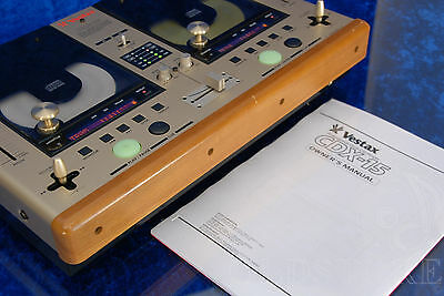 ►Vestax Cdx 15◄Consolle Lettori Cd Player Con Mixer Vintage Dj Pitch Control