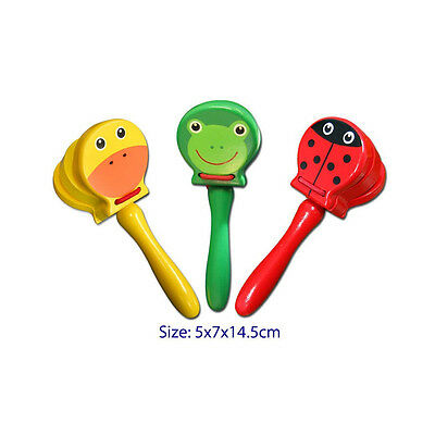 NEW Colourful Animal Castanet Learning  Educational Toy Kids Childrens Toys