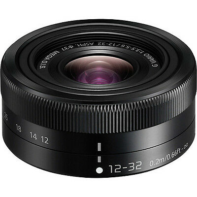 NEW Panasonic Lumix G Vario 12-32mm F/3.5-5.6 Lens Black