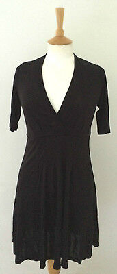 black semi fitted knee length dress by Warehouse 12
