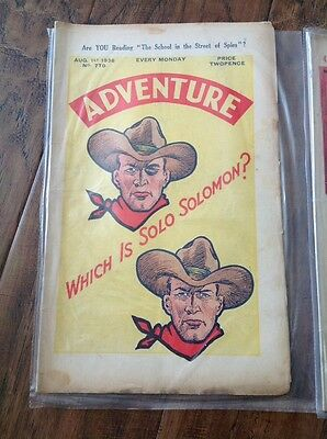 The ADVENTURE Comic - Issue No.780 August 1st 1936 Great Old Comic