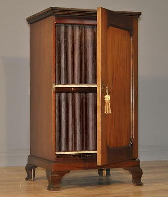 Attractive Antique Edwardian Mahogany Music Filing Cabinet With 120 Partitions