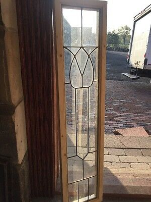 Sg 1384 Leaded Glass With Beveled Glass Tulip Center 10 Inch W By 40 4H
