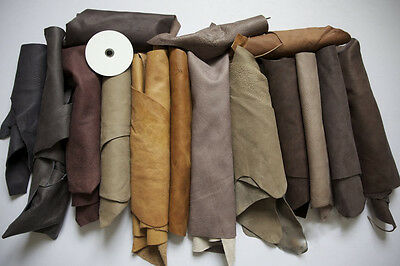 1kg Beautiful Large scraps/ Off cuts Leather Italian -100gr GIFT