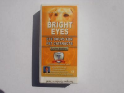 Ethos Bright Eyes Cataract Eye Drops for Dogs 10ml 1 x Box (old style packaging)
