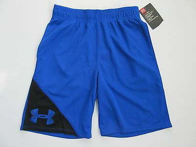 Under Armour Heat Gear Boys' Ultra Blue Shorts Size Youth 7 - NWT