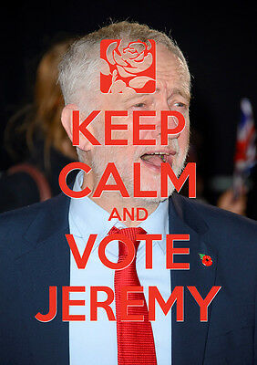 Keep Calm Vote Jeremy Corbyn, Labour, Election, Wall Art, Poster, All Sizes (3)