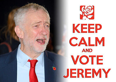 Keep Calm Vote Jeremy Corbyn, Labour, Election, Wall Art, Poster, All Sizes (5)