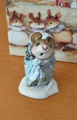 "Wee Forest Folk  M-173a  ""The Caroler"" RETIRED LTD EDITION blue  Mint"