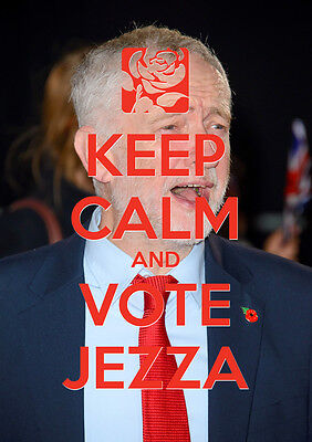 Keep Calm Vote Jeremy Corbyn, Labour, Election, Wall Art, Poster, All Sizes (13)