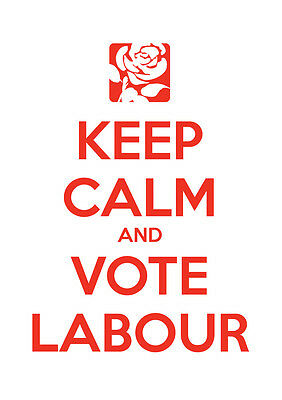 Keep Calm Vote Jeremy Corbyn, Labour, Election, Wall Art, Poster, All Sizes (16)