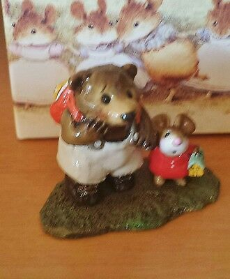 "Wee Forest Folk ""Mousie's Big Pal"" M-245 Red little mouse Mint"