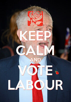 Keep Calm Vote Jeremy Corbyn, Labour, Election, Wall Art, Poster, All Sizes (19)