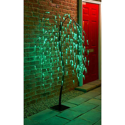 5ft 240 LED Solar Powered Weeping Willow Tree Green