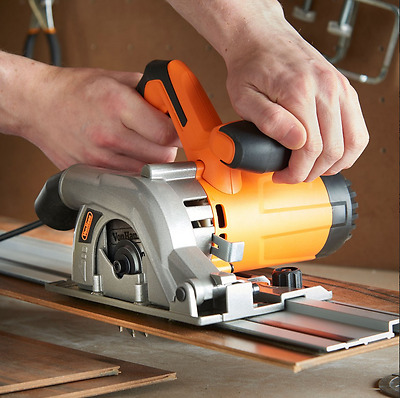Electric Plunge Saw With Track Complex Cuts 28MM Cut Depth Worktops DIY New