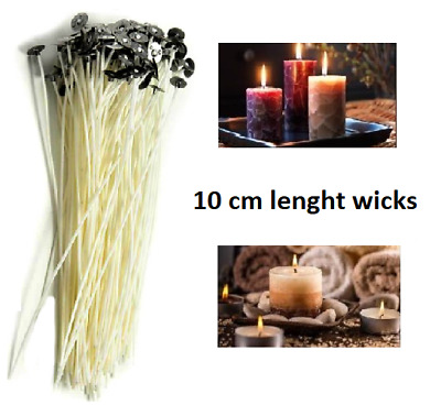 100 mm Wicks For Candle Making Designing Candles Pre Waxed With Sustainers
