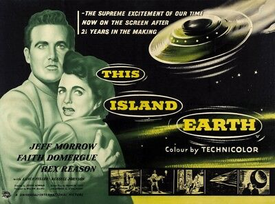 This Island Earth L-R: Rex Reason Faith Domergue On Uk Poster Art 1955 Poster