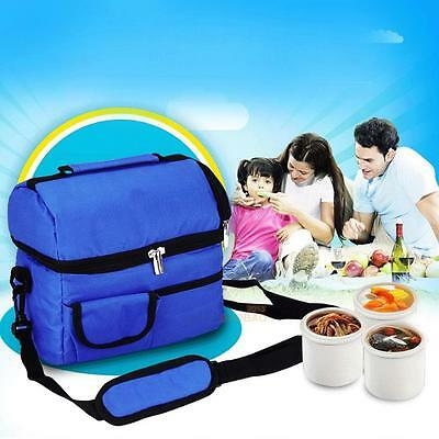 Corlorful 8L Square Thermal Bag Women Men Lunch Bag Children Kids Lunch Bags New