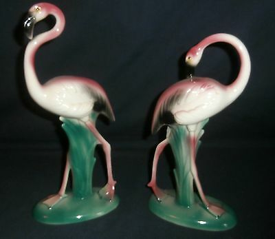 Pair of Vintage Mid Century Pink Flamingo Figurines Made in USA #950 & #951