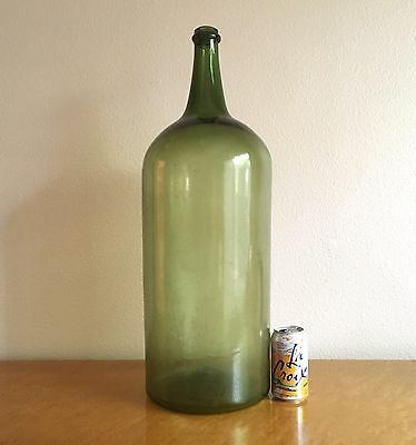 "Massive Antique French Wine Bottle, Hand Blown Mid 19th Century 26"" Rare"