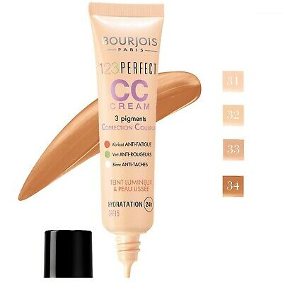 Bourjois 123 Perfect CC Cream Foundation 24H Hydration SPF 15 30ml- shades