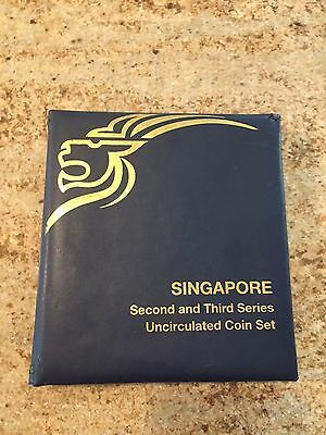 Singapore Second and Third Series Uncirculated Coin Set - 10 Coins