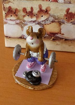"Wee Forest Folk MS-24a  ""Heavyweight""  Purple Pants MOUSE EXPO SPECIAL 2005 Mint"