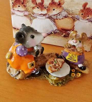 "Wee Forest Folk M-244 ""Possum's Pizza Party"" BEARY CUTE SPECIAL EDITION '06 Mint"