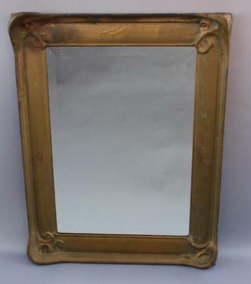 Early 1900s Carved Wood Frame Mirror Antique Spanish Revival Vintage (6008)