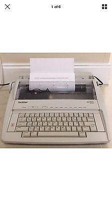 Brother ML-100 Electronic Typewriter Word Correction/Spell + Ribbon