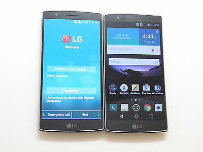 Lot of 2 LG G Flex 2 US995 32GB U.S Cellular Smartphones GoodLCDCleanIMEI AS-IS!