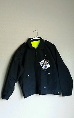 NWT Blauer #6001 B.DRY HiVis Reversible Bomber D.Navy Jacket POLICE/FIRE  L, XL