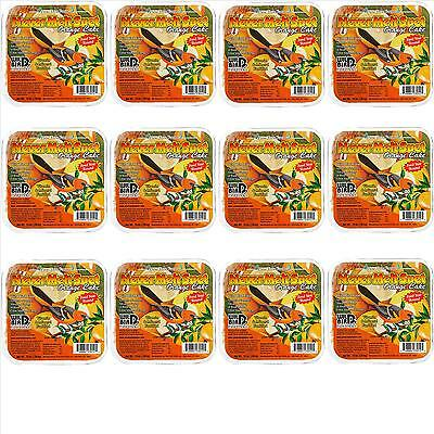 12 Pack Pine Tree Farm's Never Melt Suet Orange Cake 12 oz. 3012 Made in USA