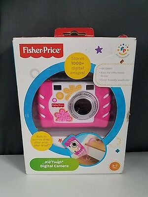 Fisher Price Kids Tough Digital Camera  4x Zoom Pink New
