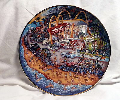Beautiful Mcdonald's Collector Plate Golden Summer By Bill Bell Franklin Mint **