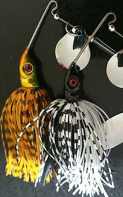 2x Bass, Yellowbelly, Cod Spinnerbait Spinner Baits Fishing Lures 13 grams