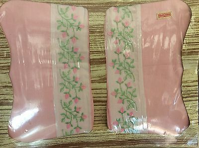 Amazing Boxed Vintage Pink Embroidered Pillowcases