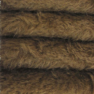 """1/6 yd 300S/C Antq Brown INTERCAL 1/2"""" Ultra-Sparse Curly S-Finish Mohair Fabric"""